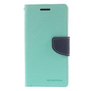 Diary PU kožené pouzdro na mobil Samsung Galaxy Grand Prime - cyan - 3
