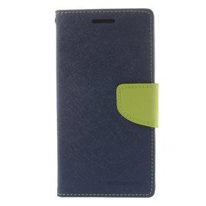 Diary PU kožené pouzdro na mobil Samsung Galaxy Grand Prime - tmavěmodré - 3