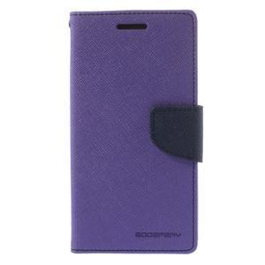 Diary PU kožené pouzdro na mobil Samsung Galaxy Grand Prime - fialové - 3
