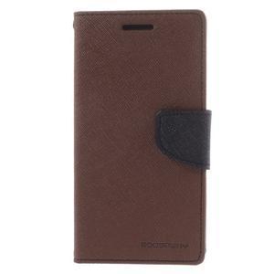 Diary PU kožené pouzdro na mobil Samsung Galaxy Grand Prime - hnědé - 3
