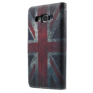 Wallet PU kožené pouzdro na mobil Samsung Galaxy Grand Prime - UK vlajka - 3