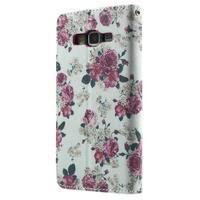 Wallet PU kožené pouzdro na mobil Samsung Galaxy Grand Prime - květiny - 3/7