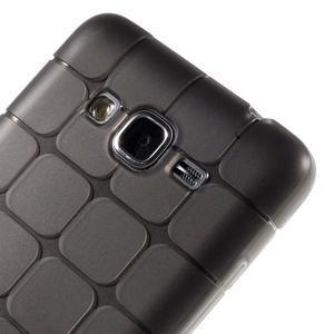 Square gelový obal na Samsung Galaxy Grand Prime - šedý - 3