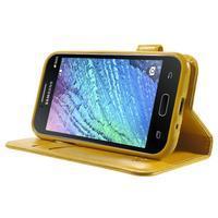 Koženkové pouzdro s kočičkou Domi na Samsung Galaxy J1 - žluté - 3/7