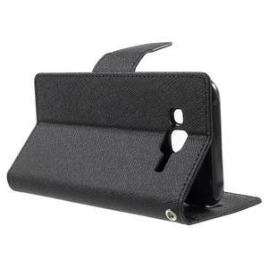 Diary stylové peněženkové pouzdro na Samsung Galaxy J5 - černé - 3