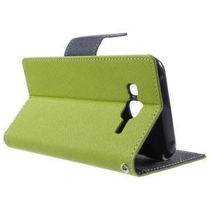 Diary stylové peněženkové pouzdro na Samsung Galaxy J5 - zelené - 3