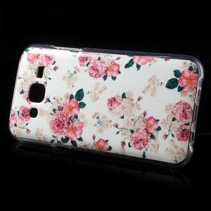 Gelové pouzdro na mobil pro Samsung Galaxy J5 - květiny - 3