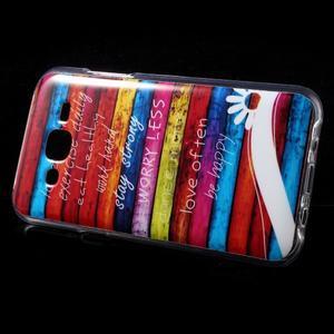 Gelové pouzdro na mobil pro Samsung Galaxy J5 - barvy dřeva - 3