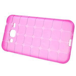 Square matný gelový obal na Samsung Galaxy J5 - rose - 3