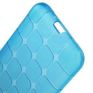 Square matný gelový obal na Samsung Galaxy J5 - modrý - 3