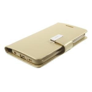Wallet PU kožené pouzdro na Samsung Galaxy S6 Edge G925 - champagne - 3
