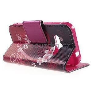 Vzorové peněženkové pouzdro na Samsung Galaxy Xcover 3 - srdce - 3