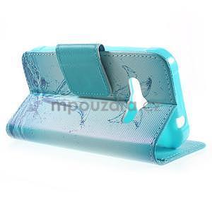 Vzorové peněženkové pouzdro na Samsung Galaxy Xcover 3 - vodní květ - 3