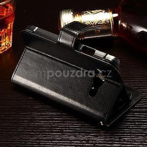 Koženkové peněženkové pouzdro na Samsung Galaxy Xcover 3 - černé - 3