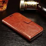 Koženkové peněženkové pouzdro na Samsung Galaxy Xcover 3 - hnědé - 3/7