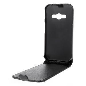 Flipové koženkové pouzdro na Samsung Galaxy Xcover 3 - černé - 3