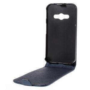 Flipové koženkové pouzdro na Samsung Galaxy Xcover 3 - tmavěmodré - 3