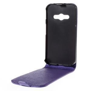 Flipové koženkové pouzdro na Samsung Galaxy Xcover 3 - fialové - 3