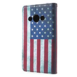 Stylové peněženkové pouzdro pro Samsung Galaxy Xcover 3 - US vlajka - 3