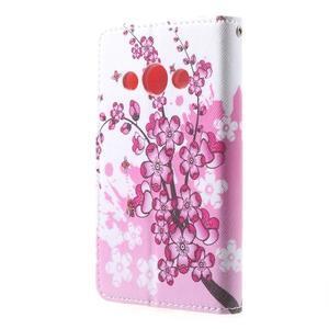 Stylové peněženkové pouzdro pro Samsung Galaxy Xcover 3 - kvetoucí větvička - 3