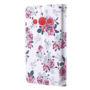 Stylové peněženkové pouzdro pro Samsung Galaxy Xcover 3 - květinová koláž - 3