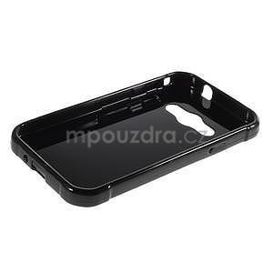 Lesklý gelový kryt na Samsung Galaxy Xcover 3 - černý - 3