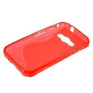S-line gelový obal na Samsung Galaxy Xcover 3 - červený - 3