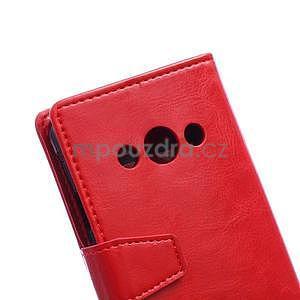 Červené koženkové pouzdro Samsung Galaxy Xcover 3 - 3