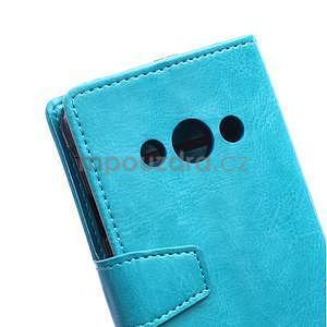 Modré koženkové pouzdro Samsung Galaxy Xcover 3 - 3