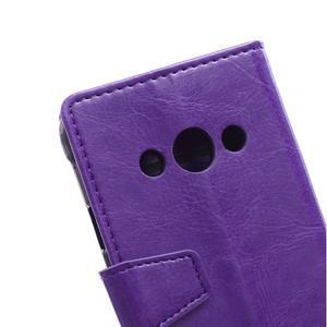 Fialové koženkové pouzdro Samsung Galaxy Xcover 3 - 3
