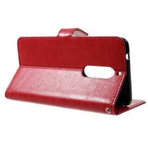 Standy PU kožené knížkové pouzdro na Nokia 5 - červené - 3