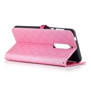 Hearts PU kožené pouzdro na Nokia 5 - růžové - 3