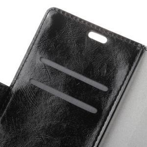 Crazy PU kožené zapínací pouzdro na Nokia 5 - černé - 3
