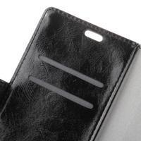 Crazy PU kožené zapínací pouzdro na Nokia 5 - černé - 3/3