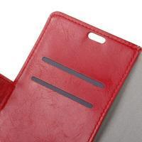 Crazy PU kožené zapínací pouzdro na Nokia 5 - červené - 3/3