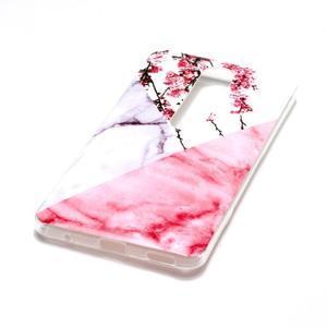 Marble silikonový kryt na mobil Nokia 6.1 - růžový květ - 3