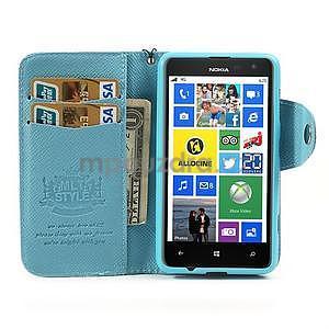Peněženkové pouzdro na Nokia Lumia 625 - světle modré - 3