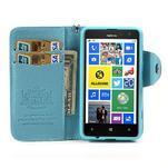 Peněženkové pouzdro na Nokia Lumia 625 - světle modré - 3/5