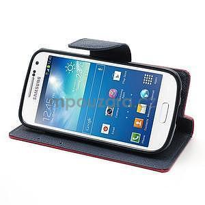 PU kožené peněženkové pouzdro na Samsung Galaxy S4 mini - rose - 3