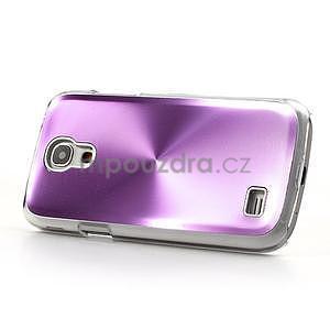 Metalický obal na Samsung Galaxy S4 mini - fialový - 3