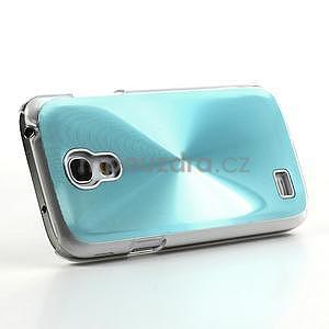 Metalický obal na Samsung Galaxy S4 mini - tyrkysový - 3