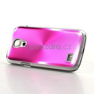 Metalický obal na Samsung Galaxy S4 mini - rose - 3