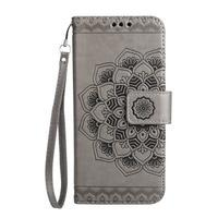 Mandala PU kožené pouzdro na Samsung Galaxy S7 Edge - šedé - 3/6