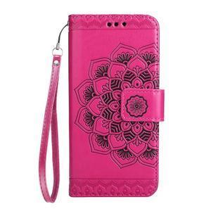 Mandala PU kožené pouzdro na Samsung Galaxy S7 Edge - rose - 3
