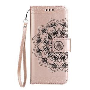 Mandala PU kožené pouzdro na Samsung Galaxy S7 Edge - růžovozlaté - 3