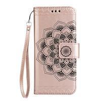 Mandala PU kožené pouzdro na Samsung Galaxy S7 Edge - růžovozlaté - 3/3