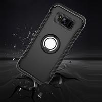 Ring odolný obal se stojánkem na Samsung Galaxy S8 Plus - stříbrný - 3/3