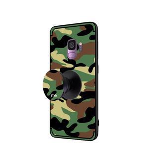 Camouflage hybridní odolný obal na Samsung Galaxy S9 - zelený - 3