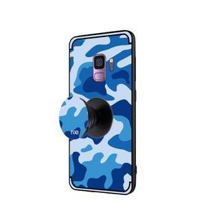 Camouflage hybridní odolný obal na Samsung Galaxy S9 - modrý - 3