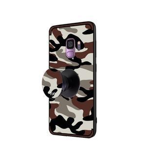Camouflage hybridní odolný obal na Samsung Galaxy S9 - tmavě hnědý - 3